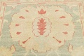 Muted Green Floral Oushak Egyptian Runner Rug 2x12 image 12