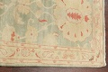 Muted Green Floral Oushak Egyptian Runner Rug 2x12 image 13