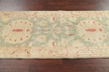 Muted Green Floral Oushak Egyptian Runner Rug 2x12 image 14