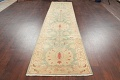 Muted Green Floral Oushak Egyptian Runner Rug 2x12 image 15