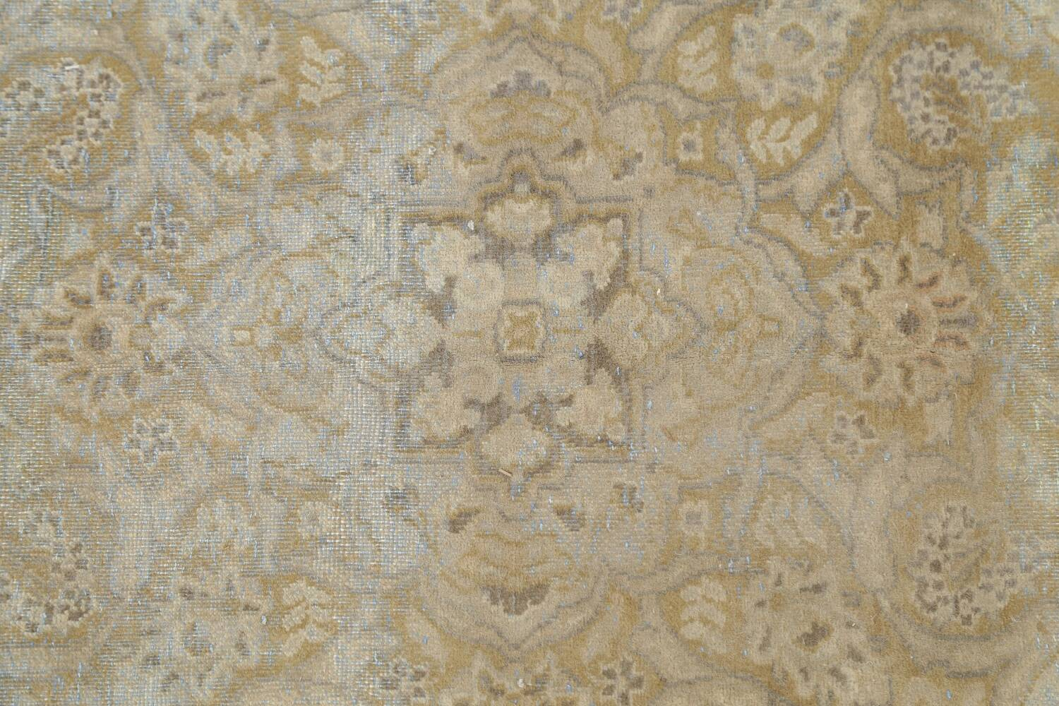 Muted Distressed Antique Kashan Persian Area Rug 7x10 image 12