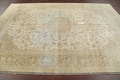Muted Distressed Antique Kashan Persian Area Rug 7x10 image 14