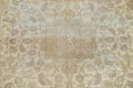 Muted Distressed Antique Kashan Persian Area Rug 7x10 image 4