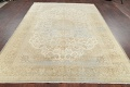 Muted Distressed Antique Kashan Persian Area Rug 7x10 image 20
