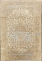 Muted Distressed Antique Kashan Persian Area Rug 7x10 image 1