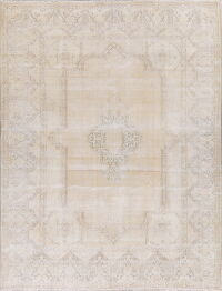 Muted Kerman Ivory Persian Area Rug 9x12