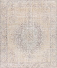 Muted Tabriz Beige Persian Area Rug 10x12