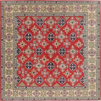 Square Geometric 10x10 Super Kazak Area Rug