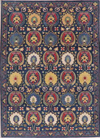 All-Over Navy Blue Super Kazak Area Rug 9x12