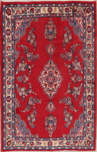 Floral Red Shahbaft Persian Area Rug 5x7