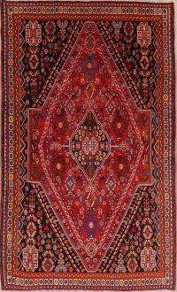 Vegetable Dye Tribal Red Abadeh Nafar Persian Area Rug 6x9