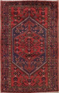 Tribal Geometric Hamedan Persian Area Rug 4x8