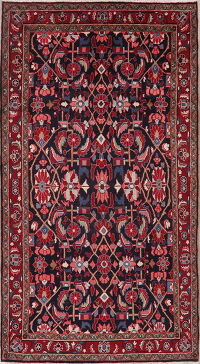 All-Over Navy Blue Lilian Persian Area Rug 5x10