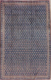 Vintage Blue/Pink All-Over Botemir Persian Area Rug 5x7