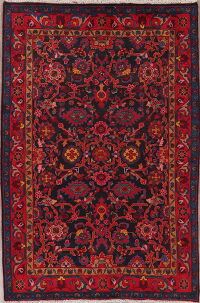 Vintage All-Over Sarouk Persian Area Rug 5x7