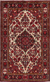 Floral Ivory Lilian Persian Area Rug 5x8