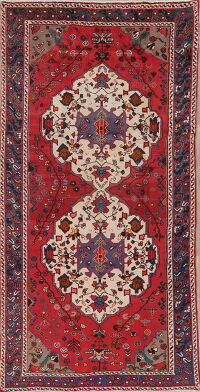Tribal Geometric Bakhtiari Persian Area Rug 5x10