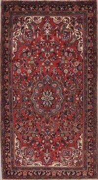 Vintage Floral Red Lilian Persian Area Rug 5x10