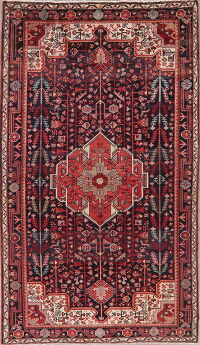 Tribal Geometric Hamedan Persian Area Rug 5x9