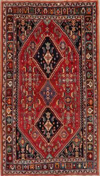 Vintage Kashkoli Nafar Vegetable Dye Persian Rug 5x10