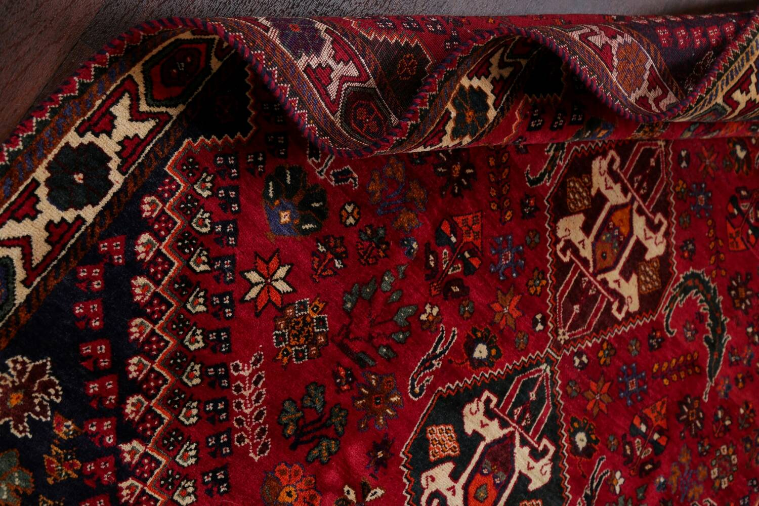 Vintage Red Geometric Abadeh Persian Area Rug 6x9 image 19