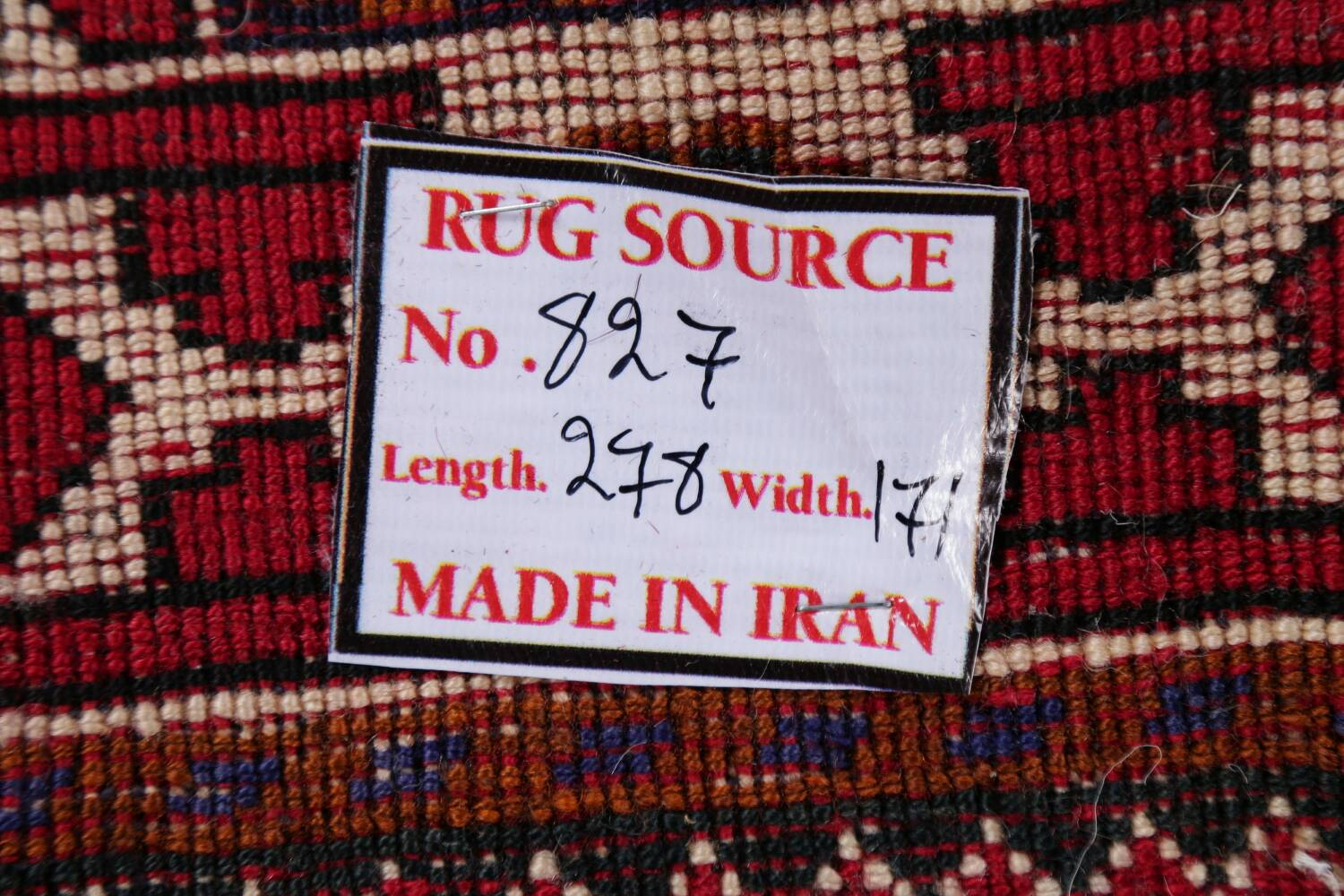 Vintage Red Geometric Abadeh Persian Area Rug 6x9 image 23