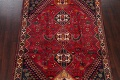 Vintage Red Geometric Abadeh Persian Area Rug 6x9 image 3