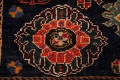 Vintage Red Geometric Abadeh Persian Area Rug 6x9 image 9