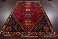Vintage Red Geometric Abadeh Persian Area Rug 6x9 image 17