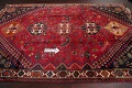 Vintage Red Geometric Abadeh Persian Area Rug 6x9 image 13