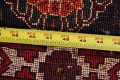 Vintage Red Geometric Abadeh Persian Area Rug 6x9 image 22