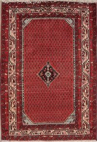 Geometric Red Malayer Persian Area Rug 3x5