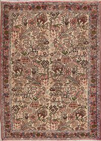 All-Over Vintage Ivory Nahavand Persian Area Rug 3x5