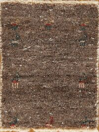 Contemporary Gabbeh Modern Persian Area Rug 1x2