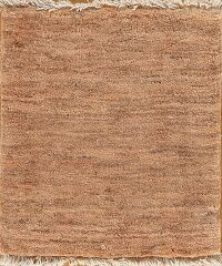 Brown Gabbeh Shiraz Persian Area Rug 2x2 Square