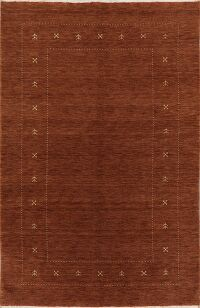 Contemporary Gabbeh Modern Area Rug Wool 5x8