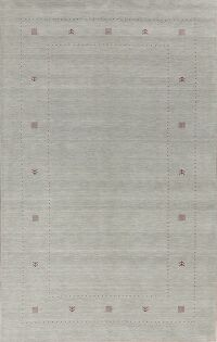 Contemporary Pale Blue Gabbeh Oriental Area Rug 6x10