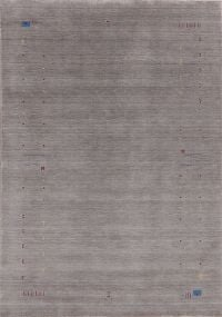 Contemporary Gabbeh Gray Modern Area Rug Wool 7x10