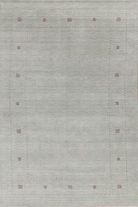 Contemporary Gabbeh Blue Modern Area Rug Wool 7x10