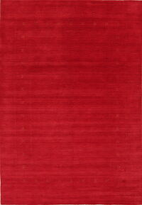 Contemporary Gabbeh Red Modern Area Rug Wool 7x10