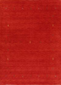 Contemporary Red Gabbeh Modern Area Rug 7x10