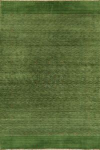 Contemporary Wool Green Gabbeh Oriental Area Rug 7x10