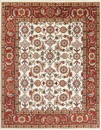 Floral Ivory Oushak Oriental Area Rug 8x10