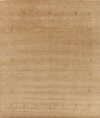 Light Brown Gabbeh Oriental Area Rug 8x10