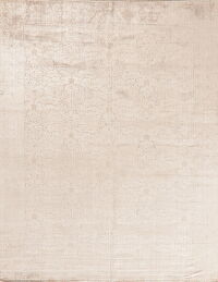 Light Brown Silk Modern Oriental Area Rug 8x10