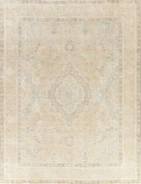 Muted Geometric Tabriz Persian Area Rug 10x13