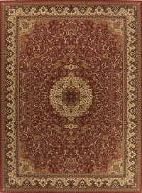 Traditional Floral Red Agra Turkish Large Rug 11x15