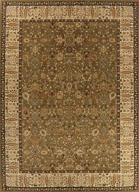 All-Over Green Agra Turkish Large Rug 11x15