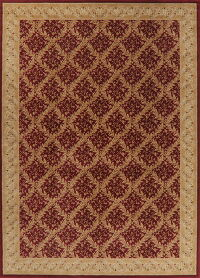 All-Over Red Aubusson Turkish Oriental Area Rug 9x13