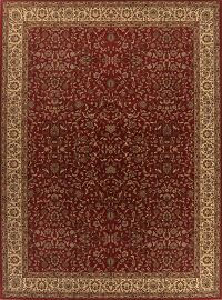 Floral Red Sarouk Turkish Oriental Large Rug 11x15